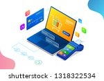 online shopping  sale ... | Shutterstock .eps vector #1318322534