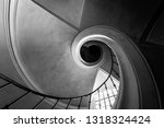 old spiral staircase. bottom... | Shutterstock . vector #1318324424