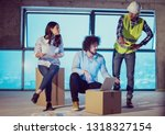 young team of business people... | Shutterstock . vector #1318327154