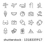 set of vacation icons  such as...   Shutterstock .eps vector #1318335917