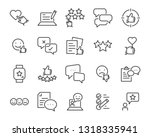 set of communication icons ... | Shutterstock .eps vector #1318335941