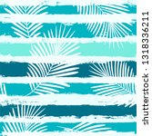 tropical pattern  palm leaves... | Shutterstock .eps vector #1318336211