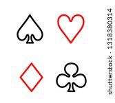 playing card line icon in flat... | Shutterstock .eps vector #1318380314