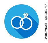 wedding rings icon. element of... | Shutterstock . vector #1318382714