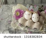easter decoration for home ... | Shutterstock . vector #1318382834