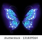 glowing  purple butterfly wings ...