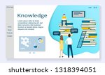website template of knowledge... | Shutterstock .eps vector #1318394051