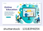 website template of online... | Shutterstock .eps vector #1318394054