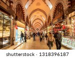 spice market  istanbul  turkey  ... | Shutterstock . vector #1318396187