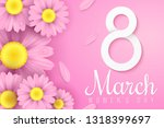 international women's day. pink ... | Shutterstock .eps vector #1318399697