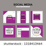 modern promotion square web... | Shutterstock .eps vector #1318413464