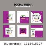 modern promotion square web... | Shutterstock .eps vector #1318415327