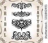set of tribal tattoo including | Shutterstock .eps vector #131842451