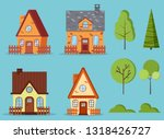 set of isolated rural farm red... | Shutterstock .eps vector #1318426727