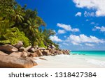 vacation at perfect tropical... | Shutterstock . vector #1318427384
