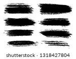 vector set of hand drawn brush... | Shutterstock .eps vector #1318427804