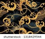 seamless tropical summer... | Shutterstock .eps vector #1318429544