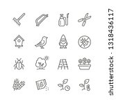 gardening related icons  thin... | Shutterstock .eps vector #1318436117
