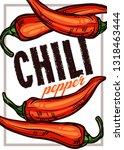chili pepper color vector... | Shutterstock .eps vector #1318463444