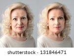 portraits mature woman before... | Shutterstock . vector #131846471