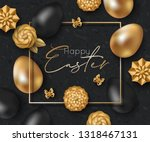 easter card design with paper... | Shutterstock .eps vector #1318467131