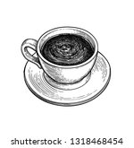 cup of hot chocolate or coffee. ...   Shutterstock .eps vector #1318468454