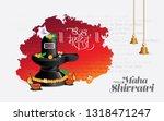 hindu festival happy maha... | Shutterstock .eps vector #1318471247