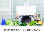 book recipes copy space. man... | Shutterstock . vector #1318485647