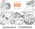 organic food illustration.... | Shutterstock .eps vector #1318489694