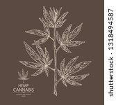 background with hemp  cannabis...   Shutterstock .eps vector #1318494587