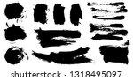 set of black ink hand drawn... | Shutterstock .eps vector #1318495097