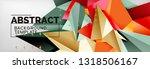 mosaic triangular 3d shapes...   Shutterstock .eps vector #1318506167