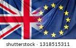 british and european union... | Shutterstock . vector #1318515311