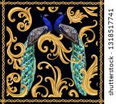 baroque vector pattern...   Shutterstock .eps vector #1318517741