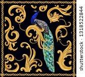 baroque vector pattern... | Shutterstock .eps vector #1318522844