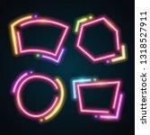 neon banner set | Shutterstock .eps vector #1318527911