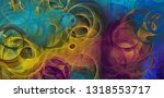 abstract psychedelic background ...   Shutterstock . vector #1318553717