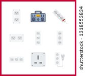 9 switch icon. vector... | Shutterstock .eps vector #1318553834