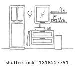 sketch the bathroom. bathroom... | Shutterstock .eps vector #1318557791