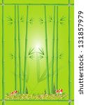 green bamboo on green... | Shutterstock .eps vector #131857979
