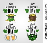 stickers set for saint patricks ... | Shutterstock .eps vector #1318586291