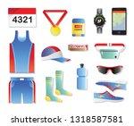 fashion dressing run sport... | Shutterstock .eps vector #1318587581