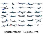 real jet planes set. isolated... | Shutterstock . vector #131858795