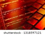 program code on a monitor  | Shutterstock . vector #1318597121