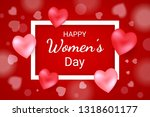 happy women's day with red... | Shutterstock .eps vector #1318601177