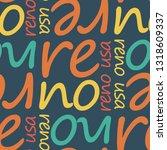 reno  usa seamless pattern ... | Shutterstock .eps vector #1318609337