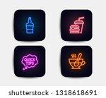 neon glow lights. set of quick... | Shutterstock .eps vector #1318618691