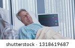 senior caucasian male patient... | Shutterstock . vector #1318619687
