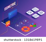 isometric vector. set of...