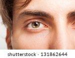 Macro Shot Of A Man\'s Eye